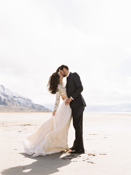 Long Sleeve Wedding Gown by Leanne Marshall