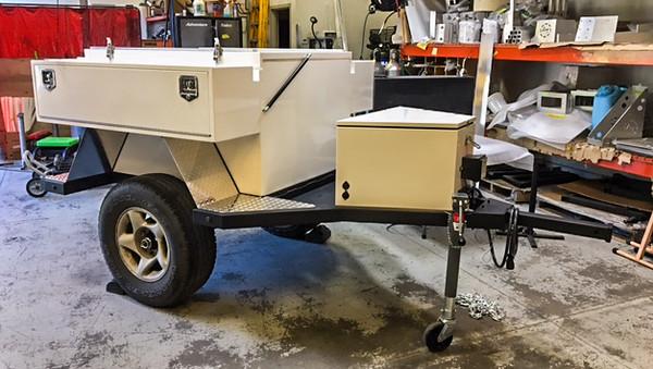 Horizon Trailer cargo boxes installed (shop tires not mine)