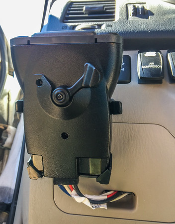 Tekonsha electric brake controller. Wireing harness coming out of the fuse access panel