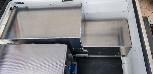 Highway Products custom aluminum drawers for AT Overland Horizon trailer