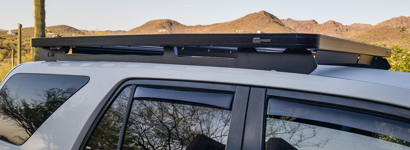 FrontRunner Sli roof rack and white Line-Ex roof on Toyota 4Runner