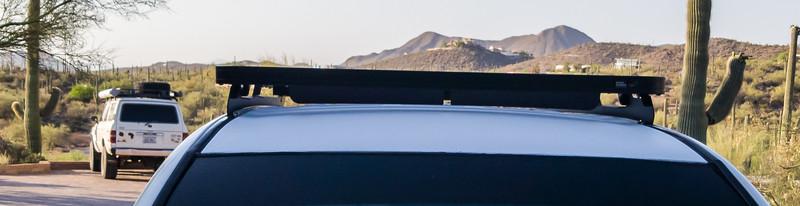 FrontRunner Sli roof rack and white Line-Ex roof on Toyota 4Runner