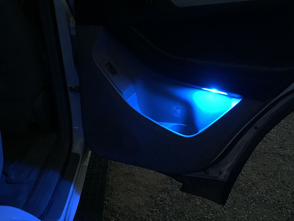 4Runner door lighting blue LED