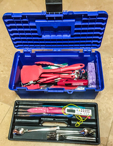 Open & packed utensil box
