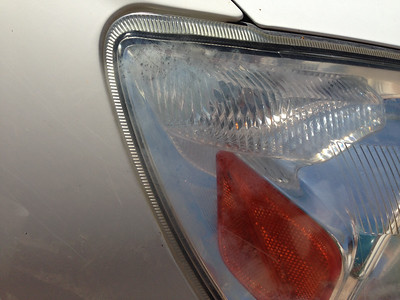 Headlight Before showing haze