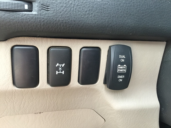 4Runner Second Battery Dash Switch