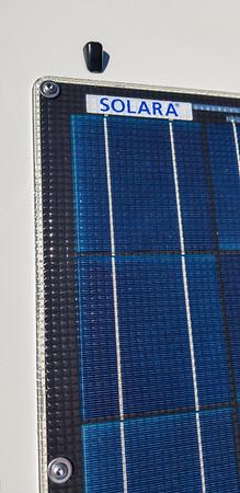 Solara hood solar panel on 4Runner
