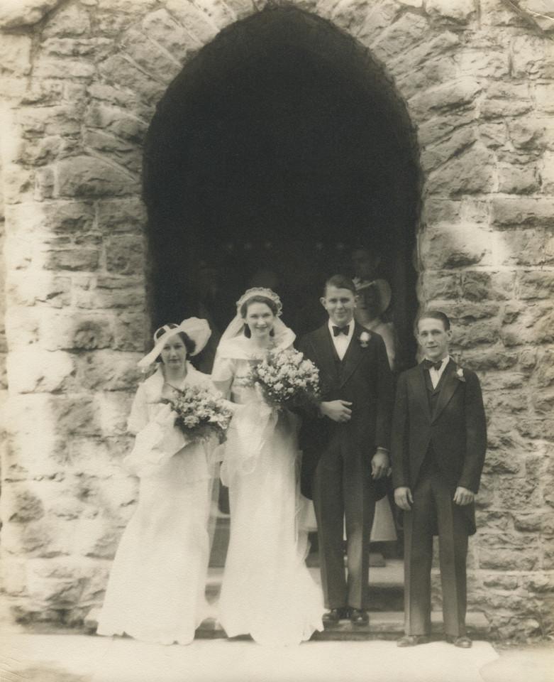 Wedding Day with Grandma and Grandpa Carlos