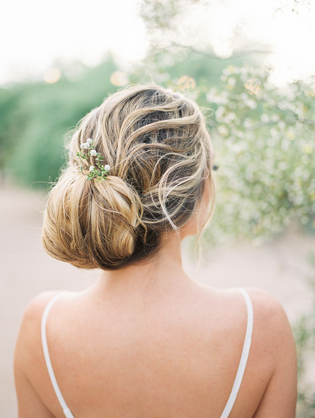 LOOSE BRIDAL BUN UPDO - SIMPLE HAIRSTYLES