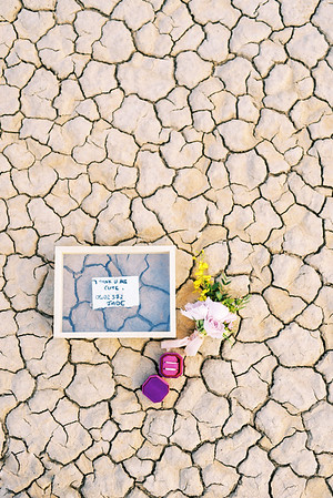 love note, meaningful wedding details - Las Vegas elopement at sunrise - colorful, artistic, and unconventional desert elopement - Kristen Krehbiel - Kristen Kay Photography - Las Vegas Wedding and Elopement Photographer