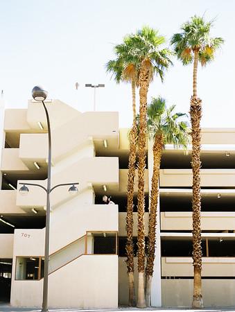 parking garage portraits - unconventional, colorful downtown Vegas elopement inspiration for artsy couples - Kristen Krehbiel - Kristen Kay Photography - Las Vegas Wedding and Elopement Photographer