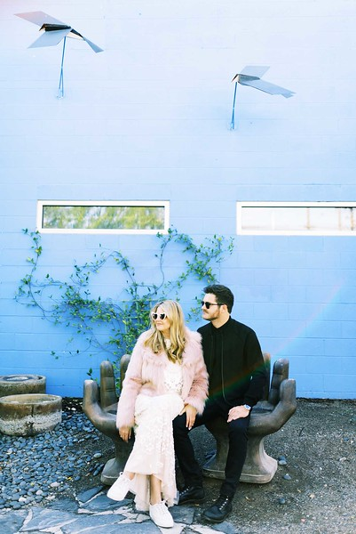 View more unique ideas for your Downtown Las Vegas Elopement - The Art's District mural walls in old Las Vegas | Kristen Kay Photography - Las Vegas elopement photographer and Super 8 videographer | #elope #pinkfur #rad #uniquewedding