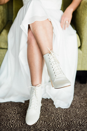 white lace-up boots for an adventurous desert elopement // Las Vegas Elopement  & Intimate Wedding Photographer - Kristen Krehbiel - Kristen Kay Photography