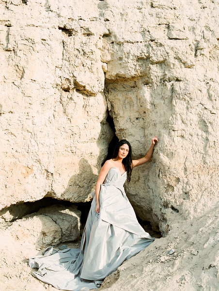 Carol Hannah Bridal Gown -- sweetheart ballgown with a bow -- Las Vegas Desert Sunrise Elopement // Janna Brown Design // Kristen Krehbiel - Kristen Kay Photography