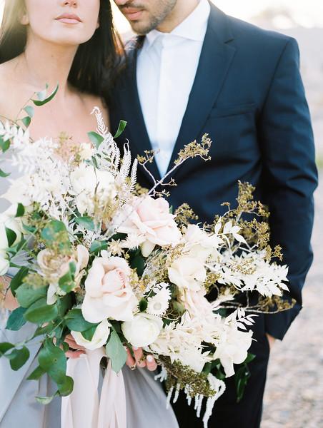 natural no makeup bridal look for a Las Vegas sunrise elopement // Kristen Krehbiel - Kristen Kay Photography // Carol Hannah Gown // Janna Brown Designs and Magnolia Rouge