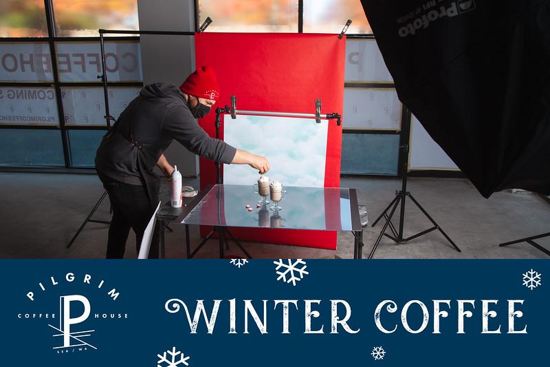 Pilgrim Coffee - Winter Drinks Ad Campaign
