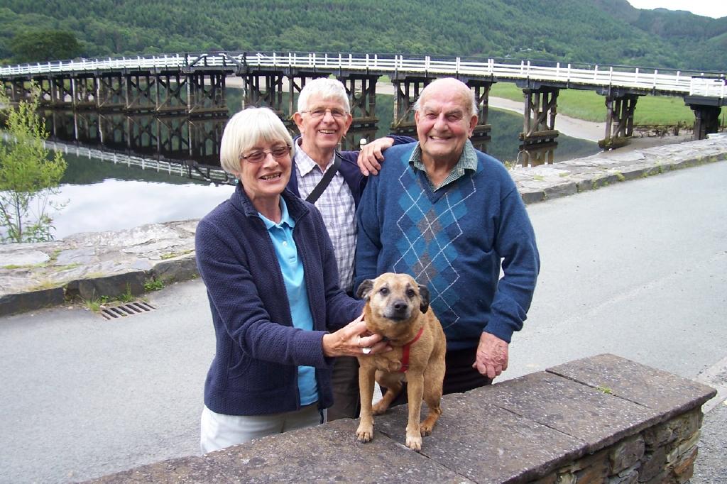 Mum & Dad visiting George Parker, Wales June 2011. Sadly in August 2011 George passed away.