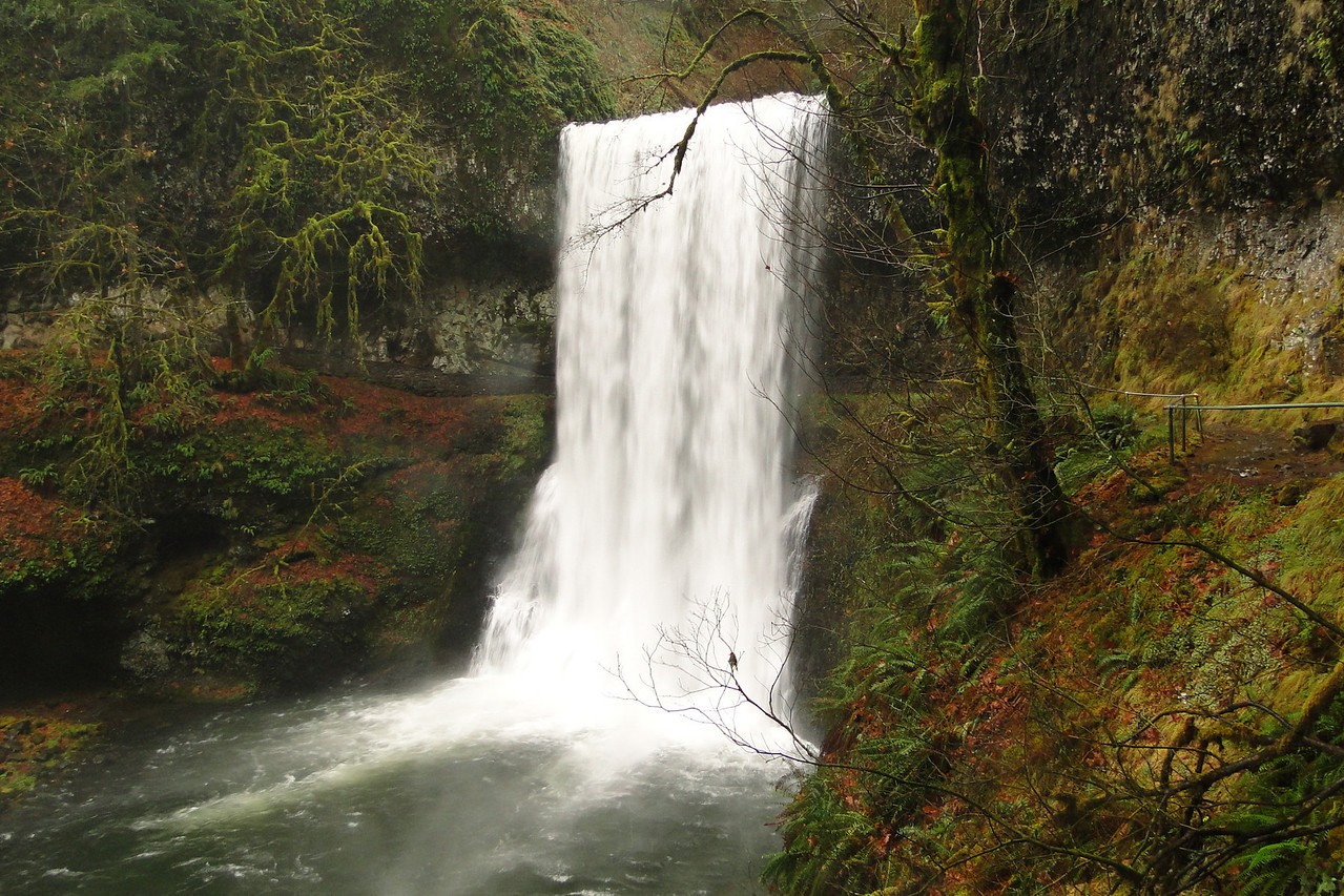 Lower South Falls Silver Falls State Park November 28th 2010