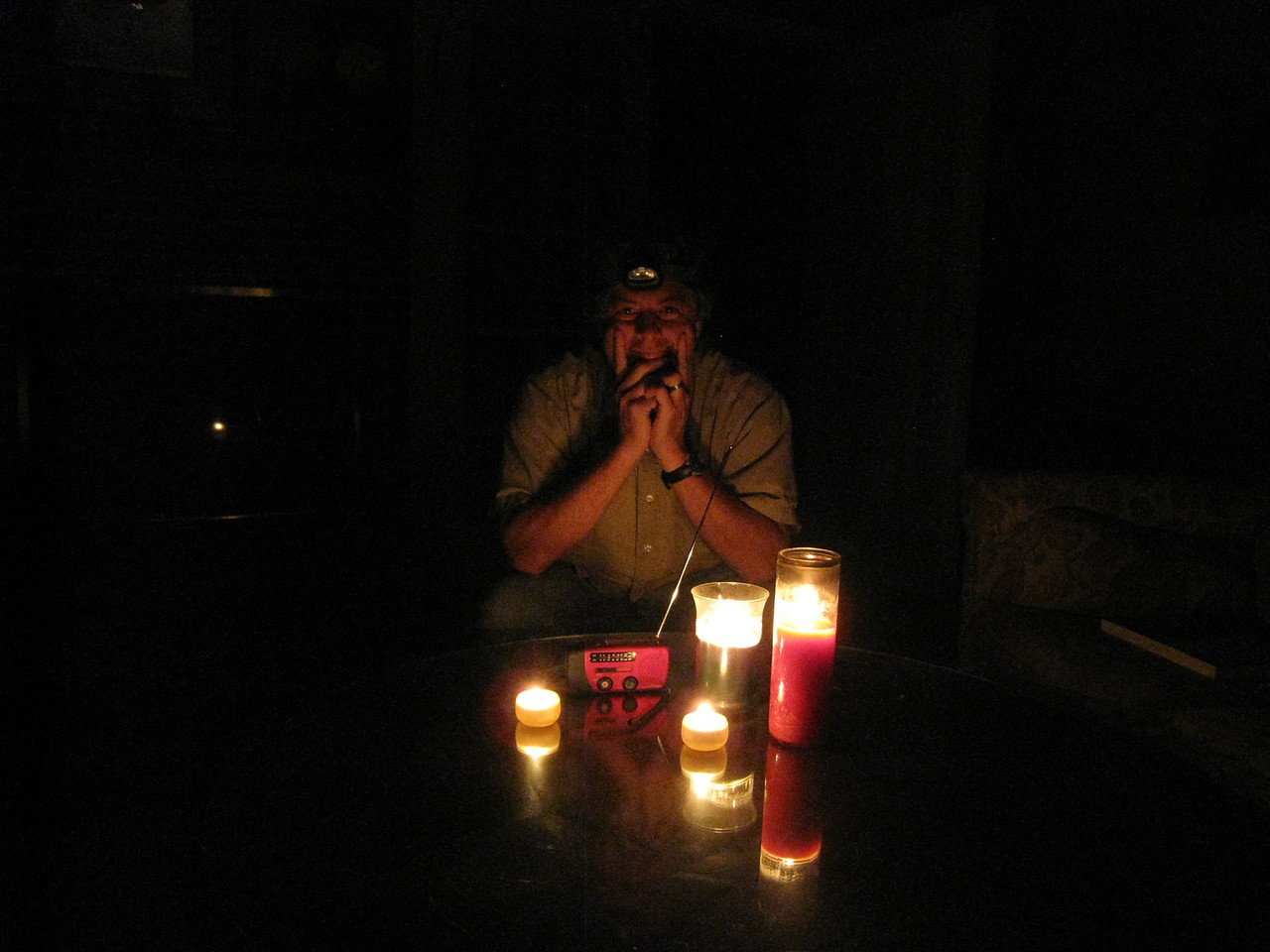 Listening to the election results by radio during a power cut November 2nd. 2010