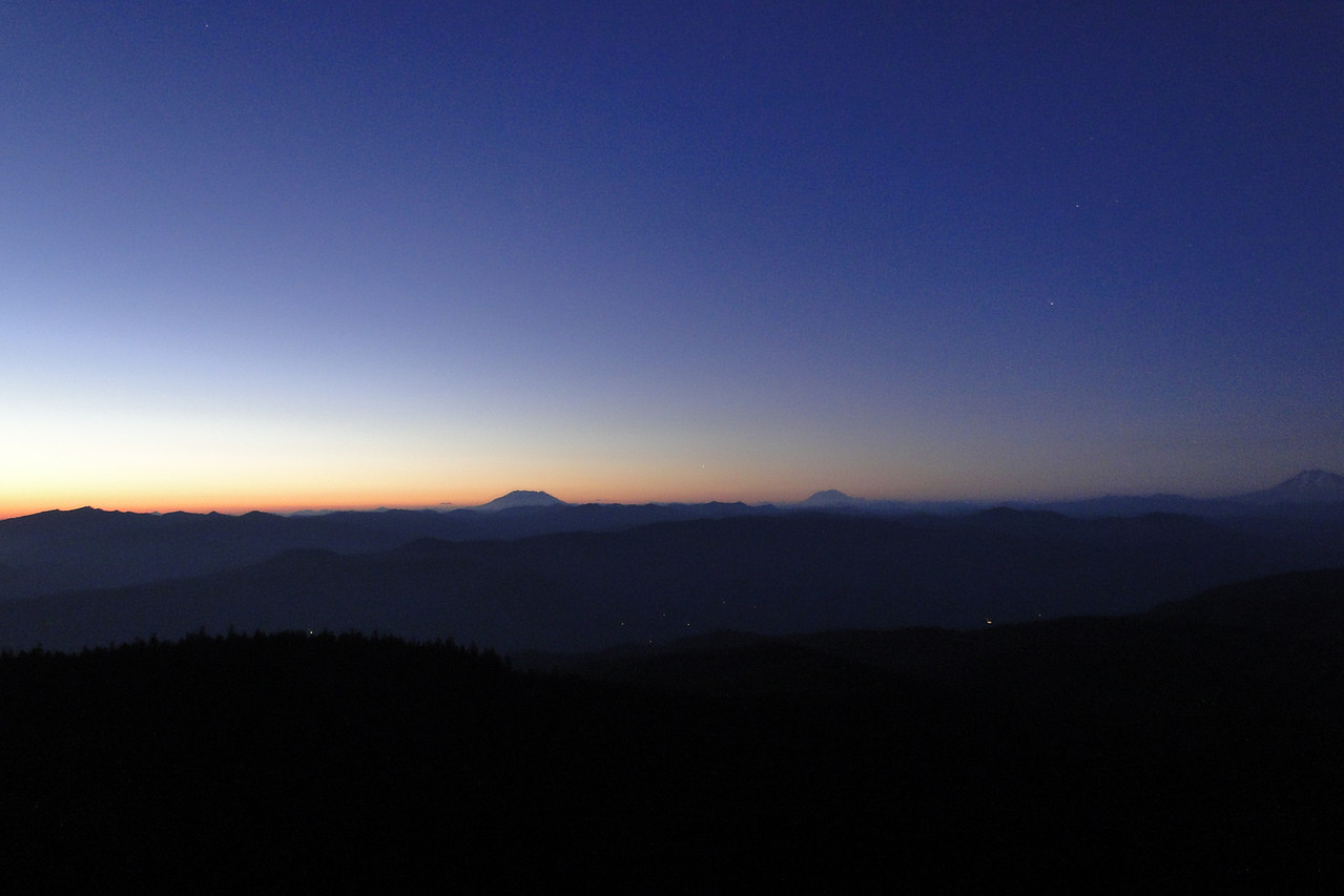 Night time shot from Larch Mountain