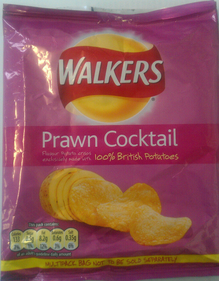 Nothing like a packet of Prawn Cocktail! Smuggled back into the country for me by daughter Mirranda :^)