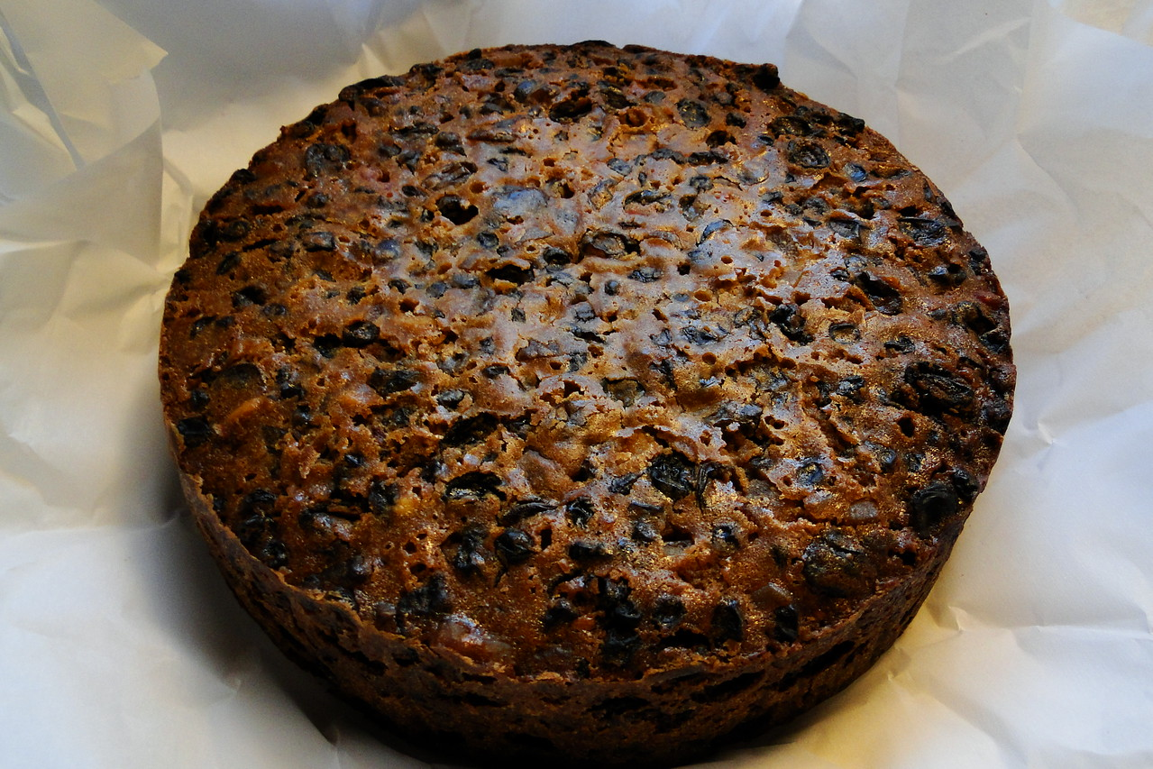 """2013/10/19: Chiyoko has made a start on this years Christmas Cake! Now begins the month of """"Brandy Feeding"""".."""