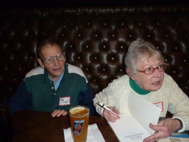 Portland Hikers Meet & Deet  Hiking Legends Don & Roberta Lowe. December 8th 2012