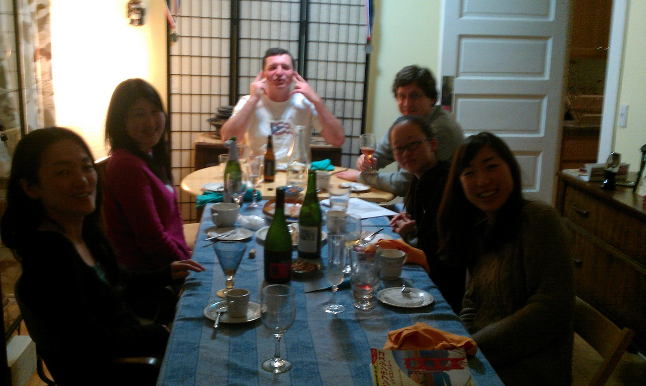 Pascal & Kazuko's for dinner, Paella!