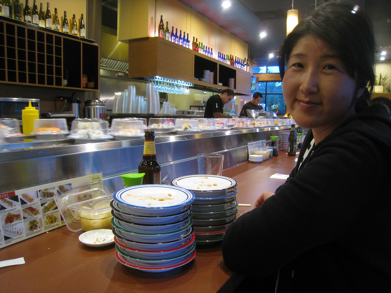 16 plates Chiyoko???? Celebrating our 5th year anniversary with conveyor Sushi!