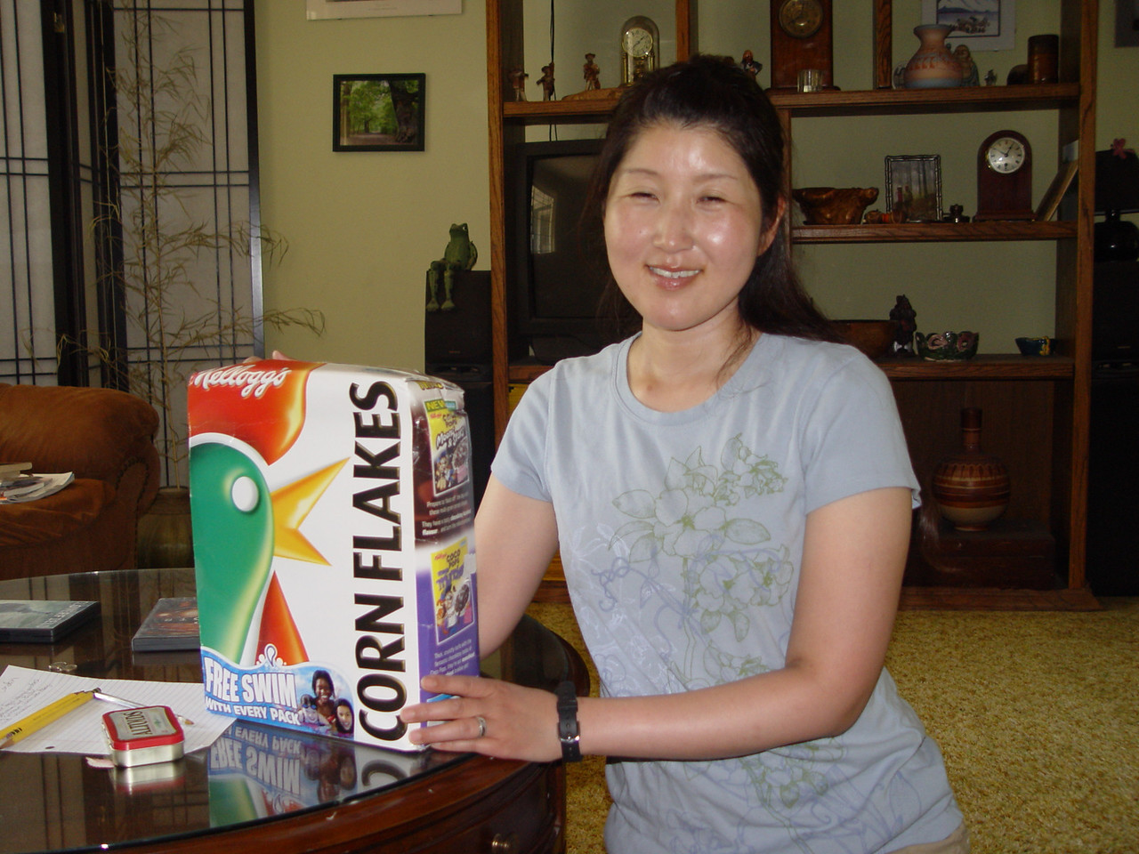 Mum & Dad sent Mirranda & Chiyoko's Birthday presents in the same cornflake box.. No surprise there!!