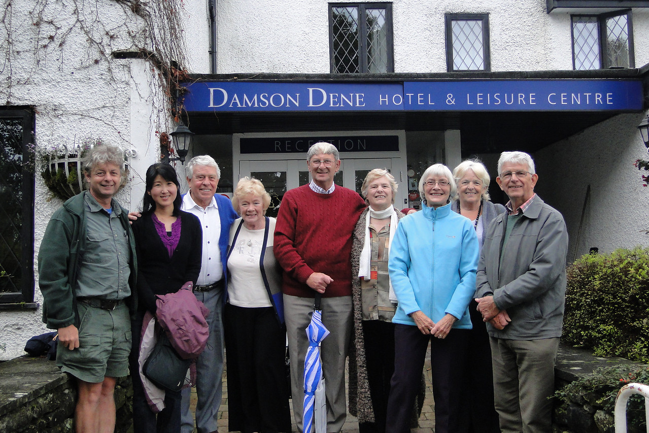 An impromptu family reunion with Aunts & Uncles in the Lake District. From left to right: Guy, Chiyoko, Albert, Irene, Colin, Joan, Mum, Brenda & Dad.  You can find all the photos of our trip here.