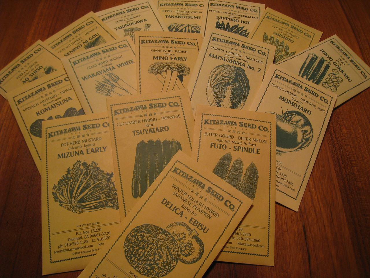 Vegetable seeds have arrived so Spring must be on the way :^).....