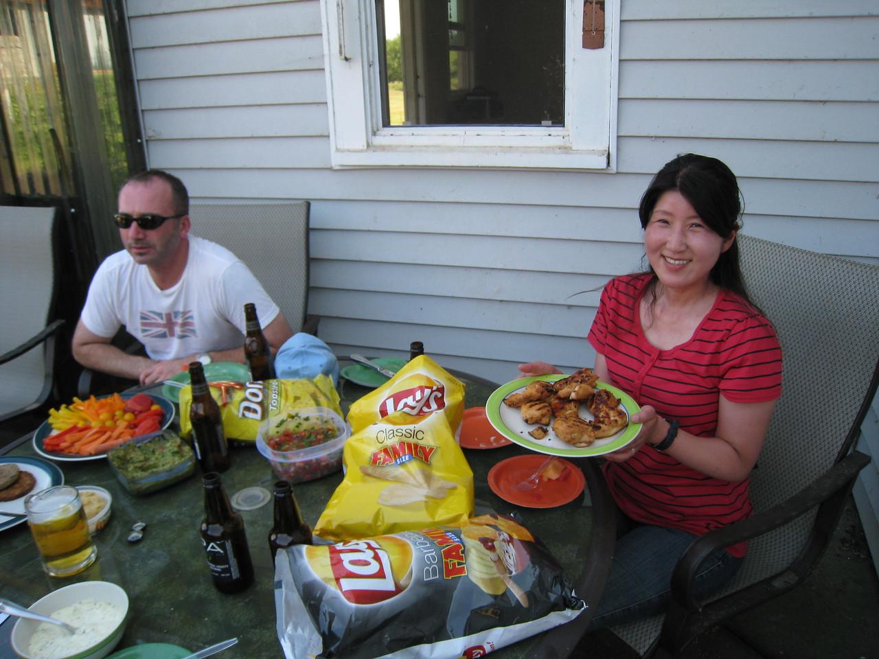 Chiyoko & Andy at Yannik & Amy's Summer BBQ.