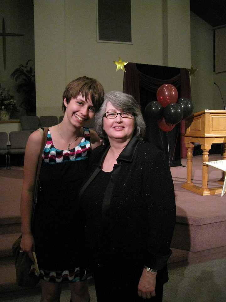 Anwen & Mrs Urbal at the school Junior/Senior Banquet night.