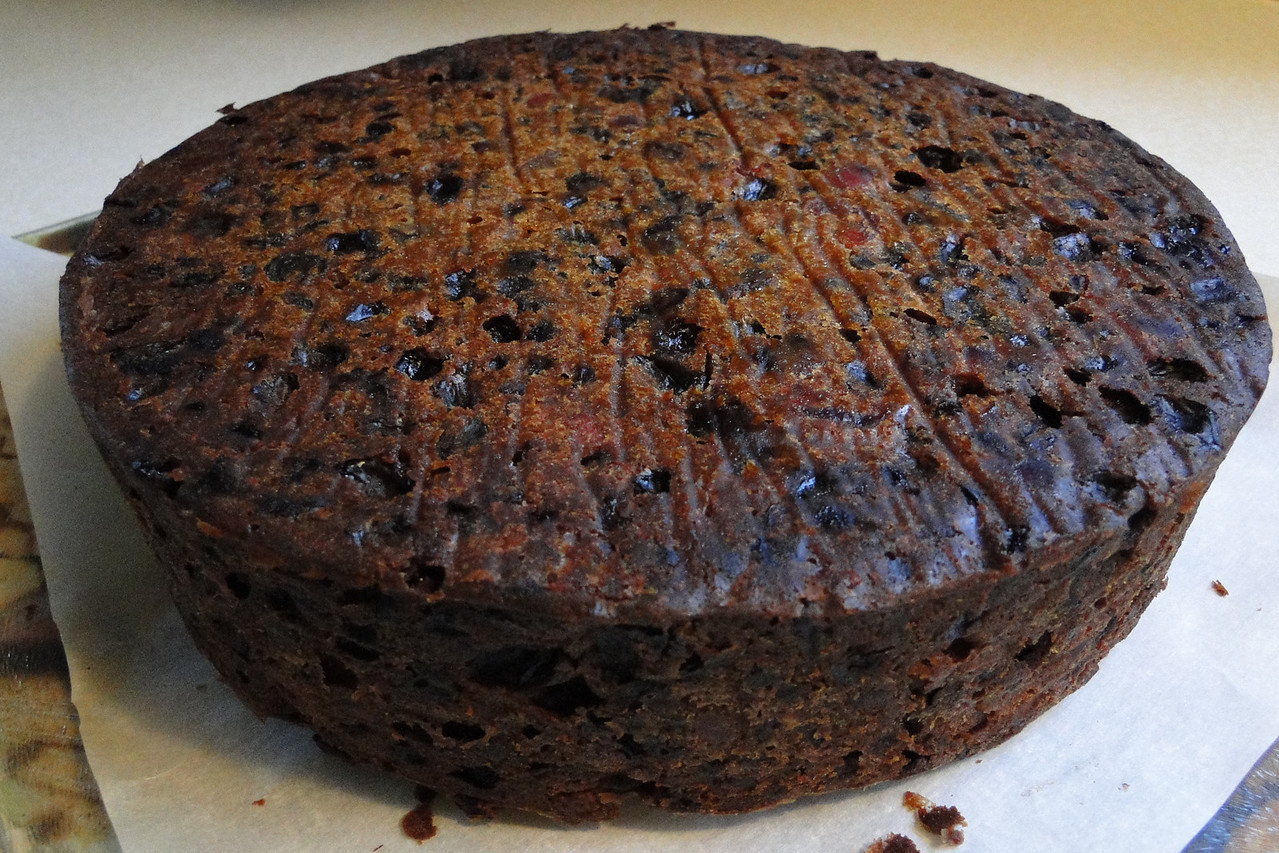 Chiyoko made the Christmas Cake Yesterday, now we just have to feed it Brandy for a few weeks.
