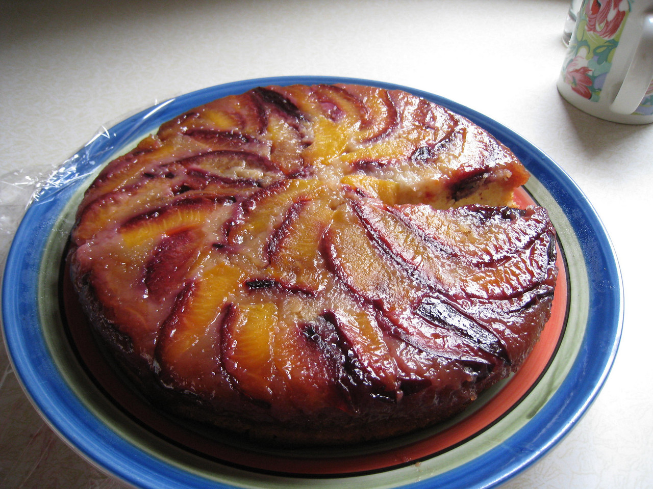 After stealing the plums she made this Plum Cake