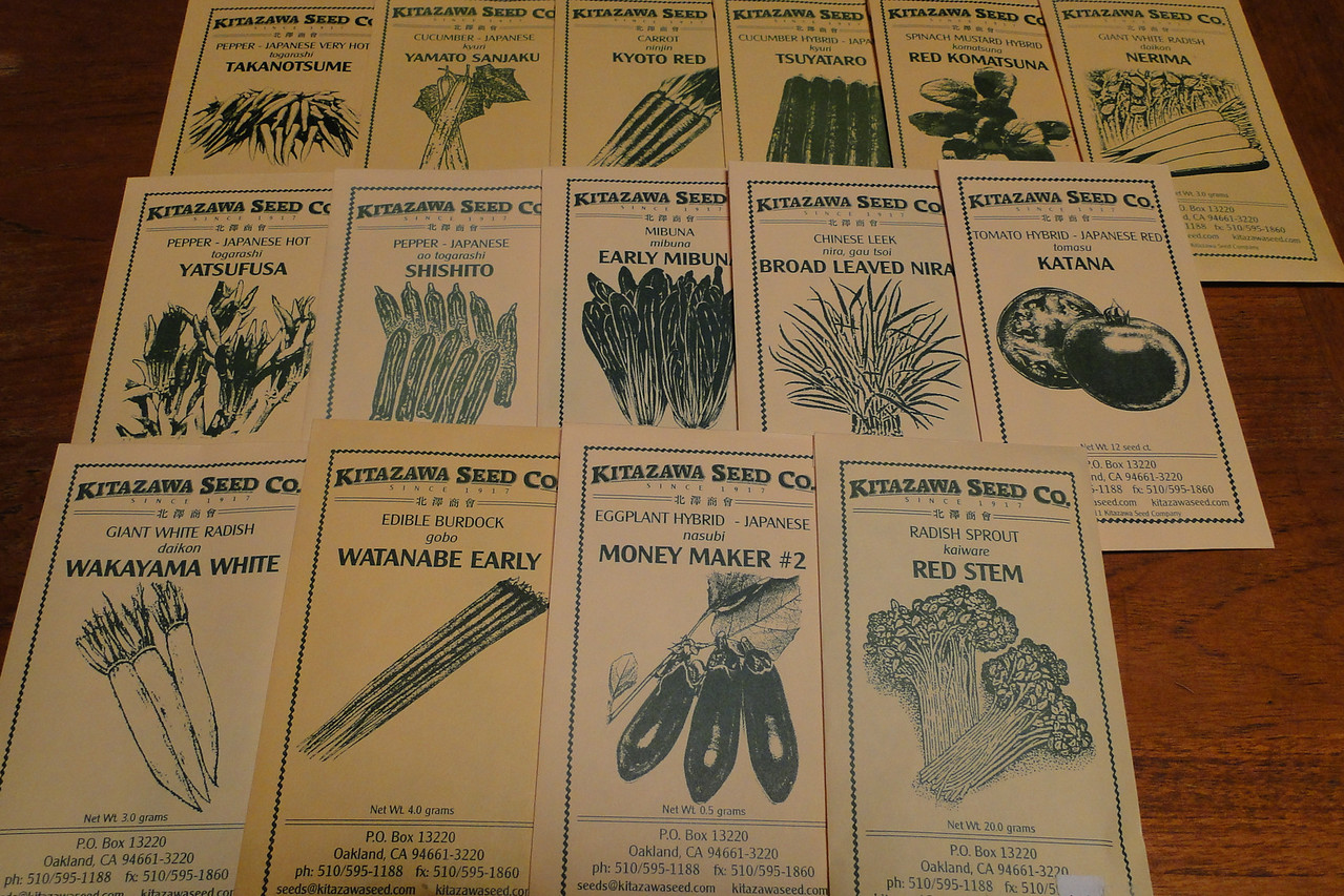 The Kitazawa Vegetable Seeds arrived today, time to get going on the Veg garden!