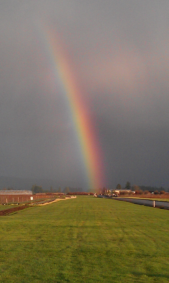 Rainbow at work January 5th 2012