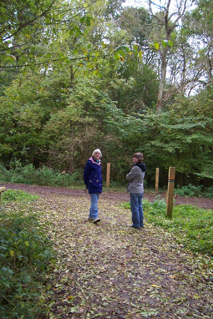 Dad sent us this photo of Mum & Anwen at Fineshade Wood October 30th 2008