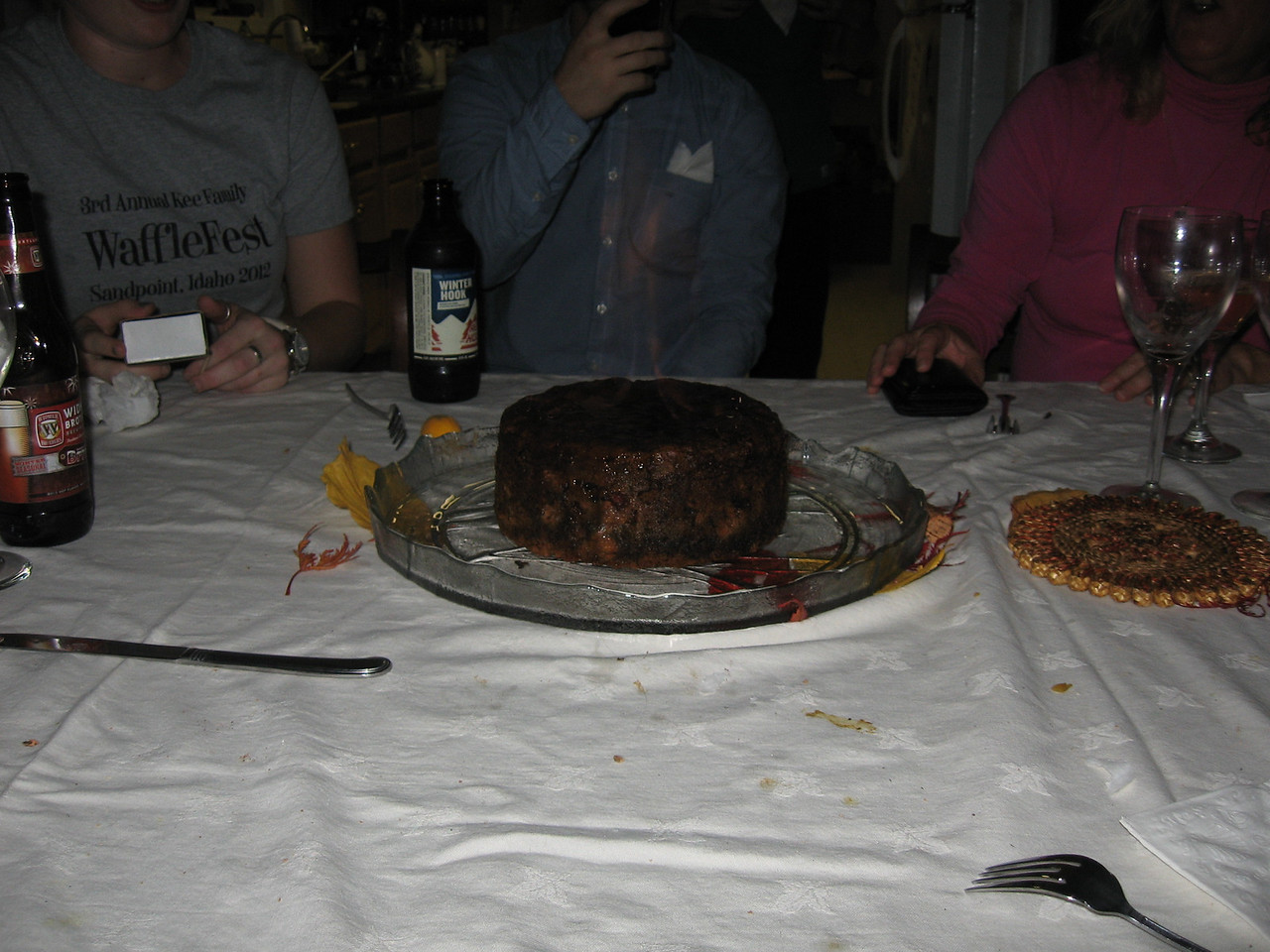 Another great Thanksgiving at Phil & Suzy's.. Suzy's famous Steamed Cranberry Pudding