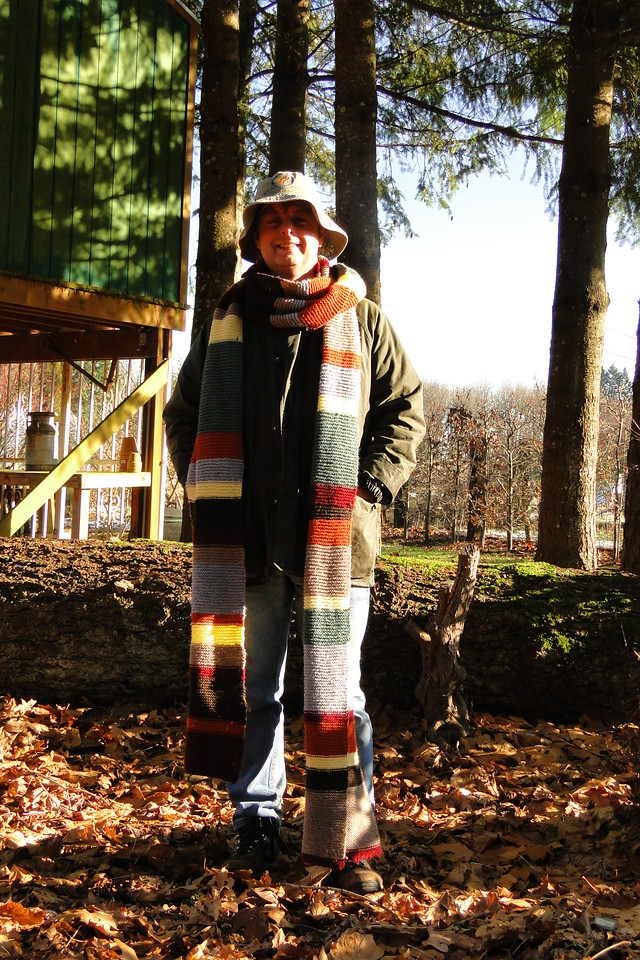 My home made Christmas Present from daughter Anwen A Dr. Who Scarf!