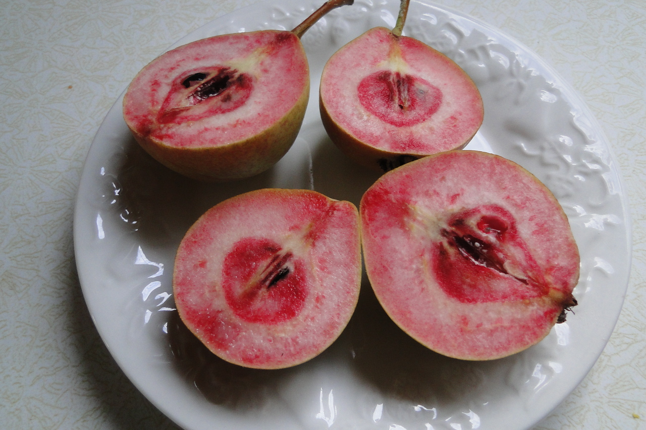 Eric's pink pears!