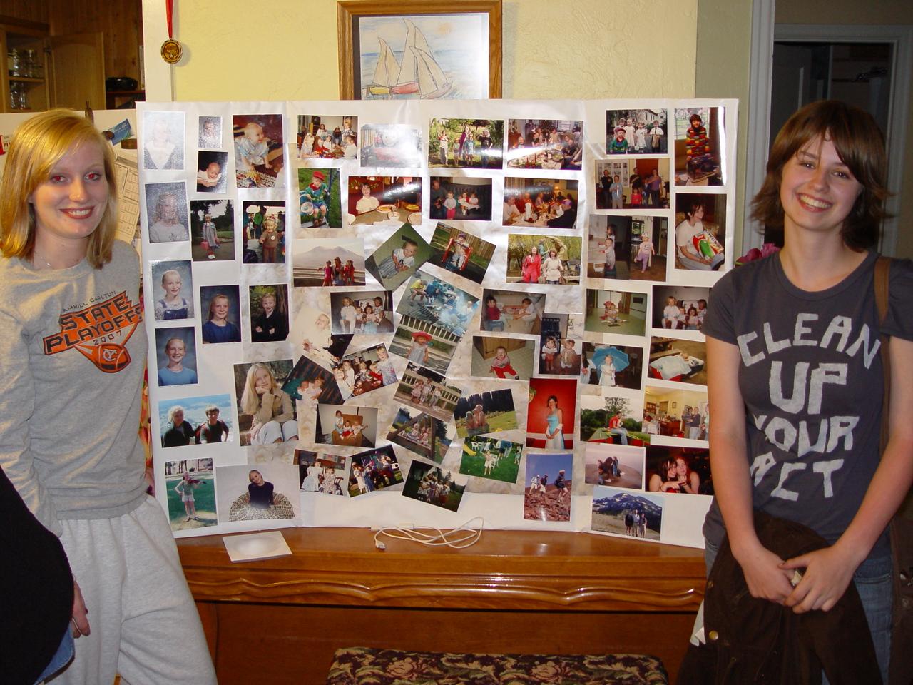 Carrie & Anwen's Graduation Photo Board