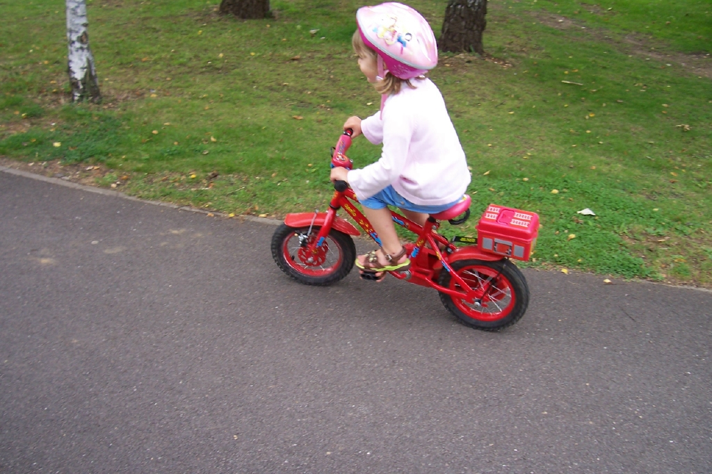 Dad sent us this great pic of Maddy riding her bike without stabilizers.