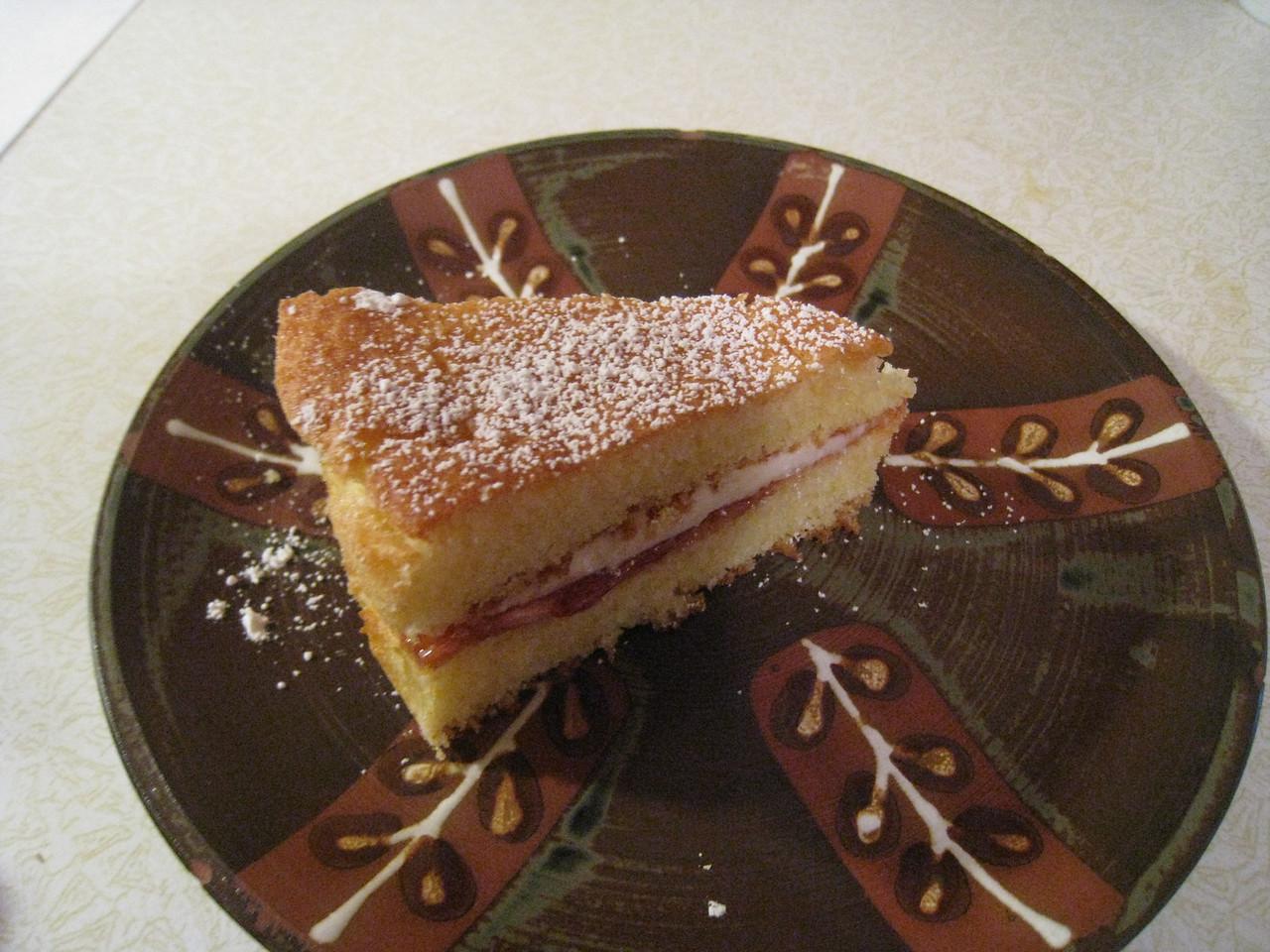 Chiyoko's home made Victoria Sponge Cake.