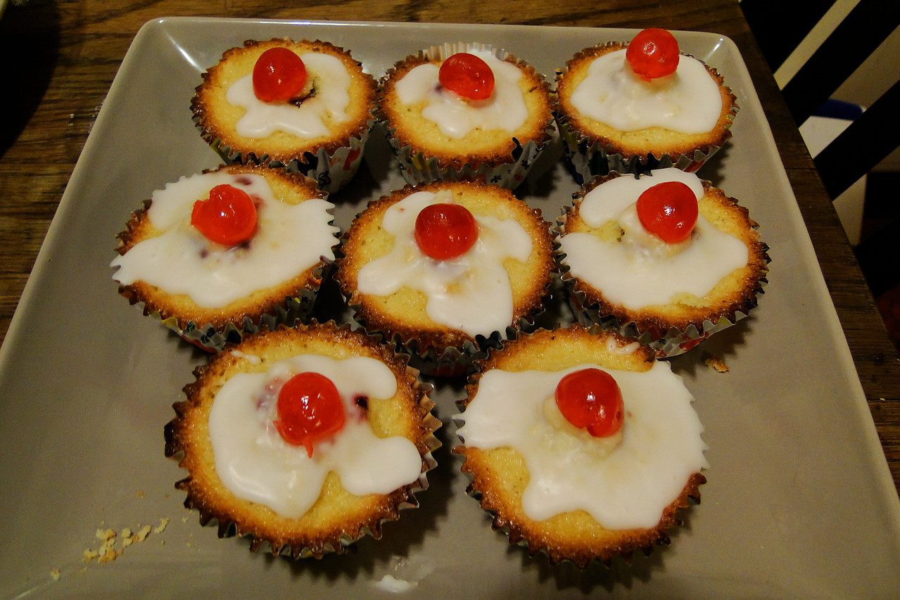 Chiyoko's Bakewell Cup Cakes!