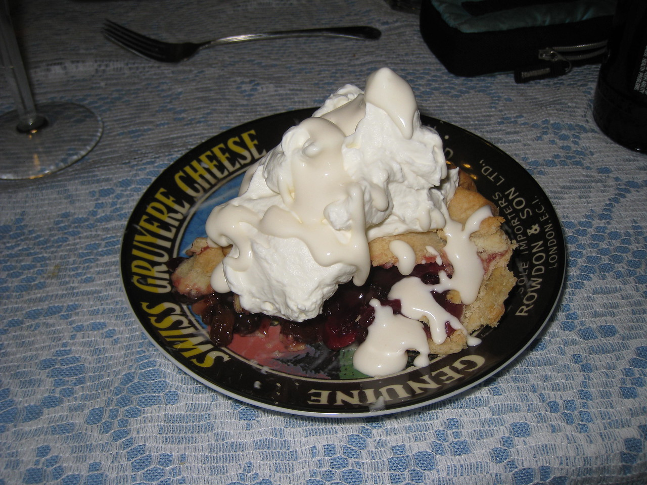 Thanksgiving Heaven Maple Cream on top of Whipped Cream on top of Mock Cherry Pie  Shame I forgot the Ice Cream.....