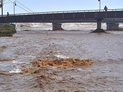 River waves meet Sea waves