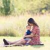Pregnant Mom Holding Son