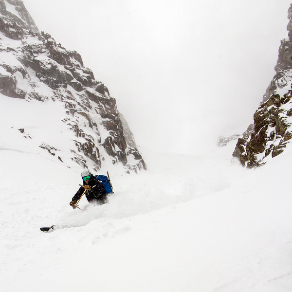 Comstock slaying the Pinner Couloir